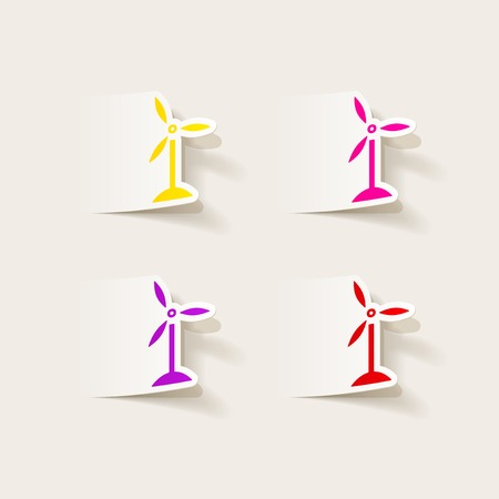 wind power: realistic design element: wind turbines