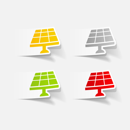 new generation: realistic design element: solar battery