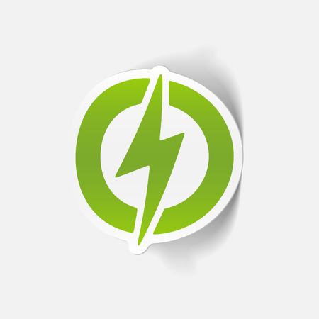 ecological adaptation: realistic design element: lightning bolt