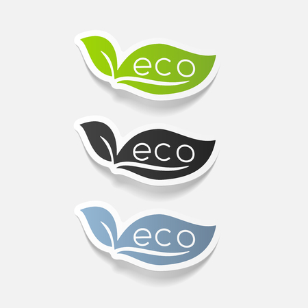 environmental analysis: realistic design element: eco sign leaf
