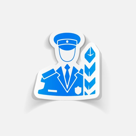 customs: realistic design element. customs inspector
