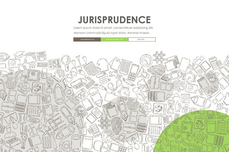 jurisprudence: jurisprudence Website Template Design with Doodle Background