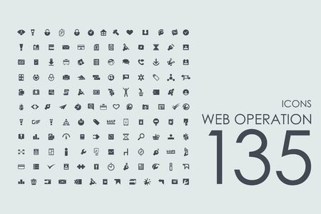 hoja de ruta estándar vector web de iconos simples modernos