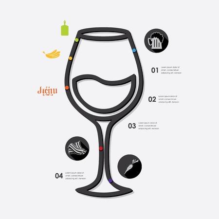comfort food: restaurant infographic Illustration