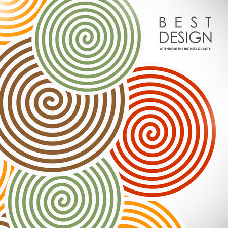 It is an abstract colourful bacrground with spiral elements Stock Illustratie