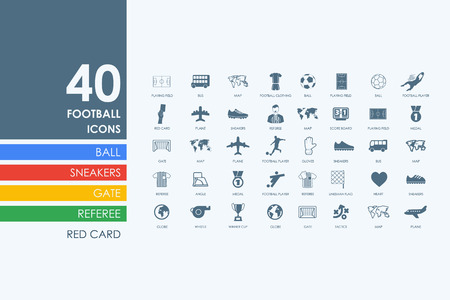 match preview: football vector set of modern simple icons Illustration