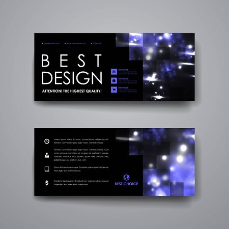 alternating: Set of modern design banner template in neon molecule structure style. Beautiful design and layout Illustration
