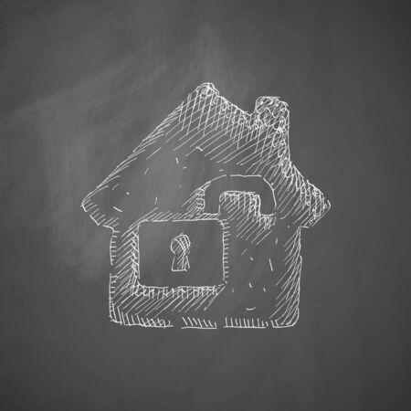 parapet wall: house icon