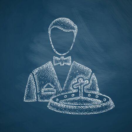 dealer: dealer casino icon Illustration
