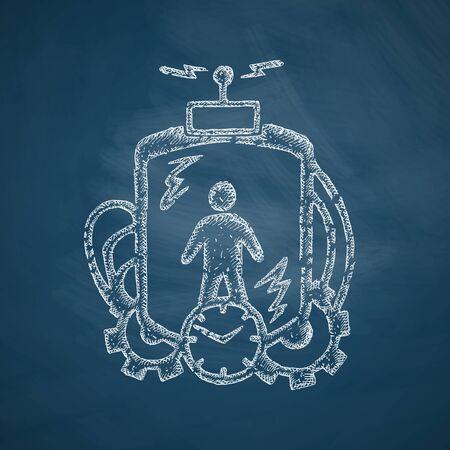 time machine icon Vektorové ilustrace
