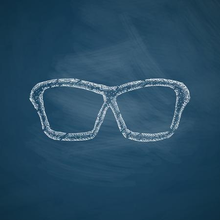 drawn metal: glasses icon