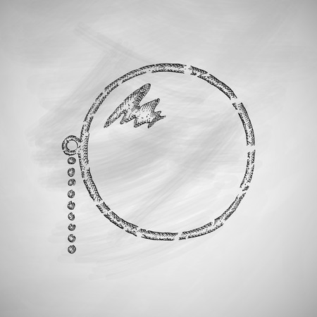 drawn metal: monocle icon Illustration