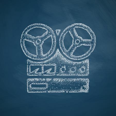 grabadora: icono de la grabadora est�reo