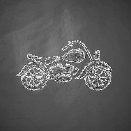 drawn metal: motorcycle icon