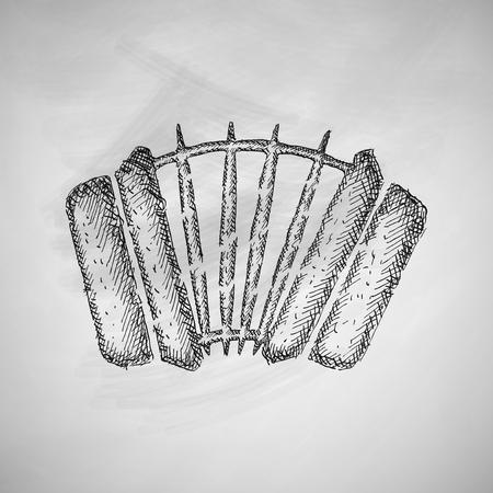 an accordion: icono de acorde�n