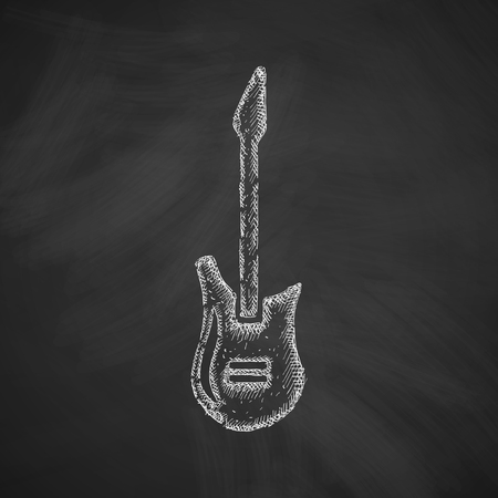 rosewood: electric guitar icon