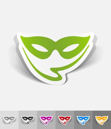 paper mask: mask paper sticker with shadow. Vector illustration Illustration