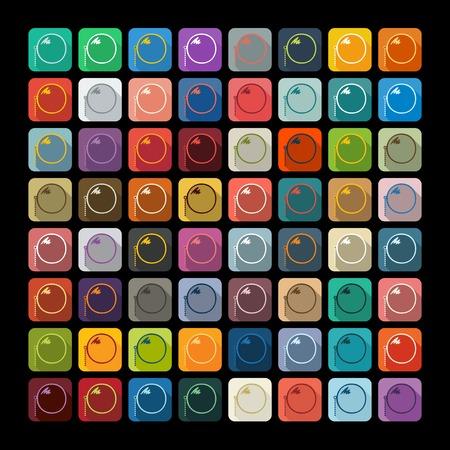 monocle: Flat design: monocle Illustration