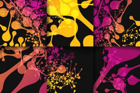alternating organic: Set of brochure, poster templates in DNA molecule style. Beautiful design Illustration