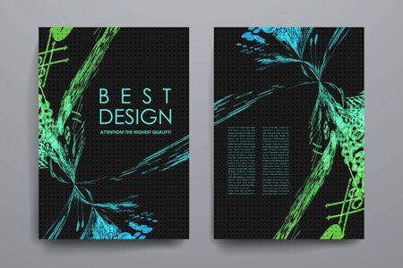 Set of brochure, poster templates in abstract style. Beautiful design and layout Vector Illustration