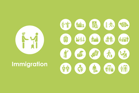 homeland: It is a set of immigration simple web icons