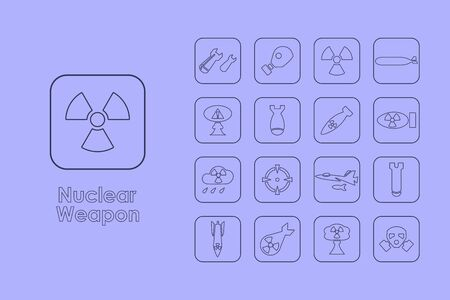 end of the world: It is a set of nuclear weapon simple web icons