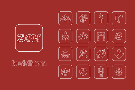 It is a set of buddhism simple web icons