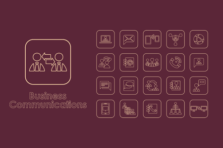 business it: It is a set of business communications simple web icons Illustration