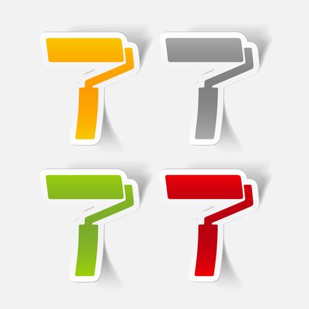 paint roller: realistic design element: paint roller
