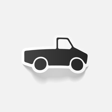 pickup: realistic design element: car pickup