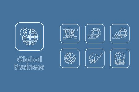 business it: It is a set of global business simple web icons