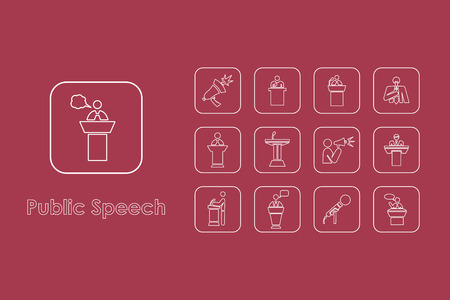 clipart speaker: It is a set of public speech simple web icons