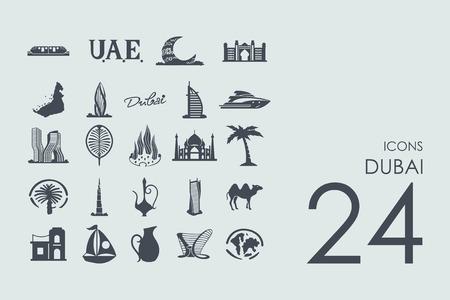 united arab emirate: Dubai vector set of modern simple icons
