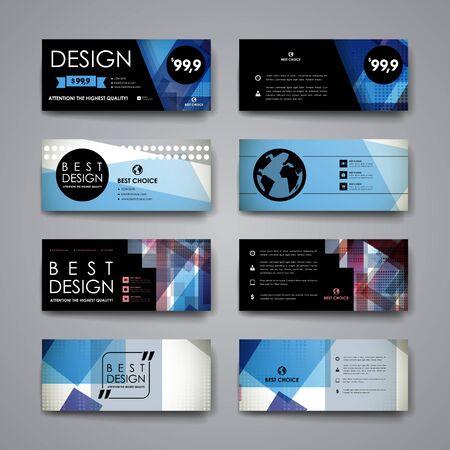 Ensemble de modèle de bannière de conception moderne dans un style abstrait. Beau design et mise en page