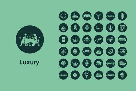 Es ist eine Reihe von Luxus einfache Web-Symbole Vektorgrafik