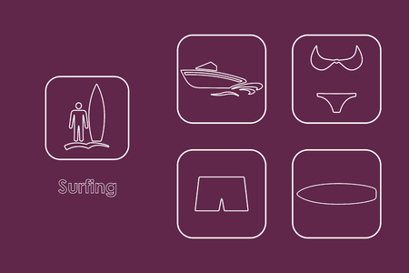 somersault: It is a set of surfing simple web icons