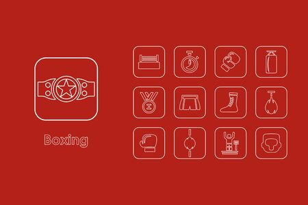 spotlit: It is a set of boxing simple web icons