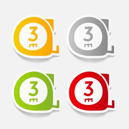 meters: realistic design element: cartridges meters Illustration