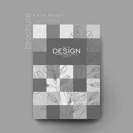 varied: floral ornament vector brochure template. Flyer Layout. Creative modern design Illustration