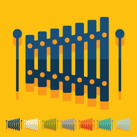 Flat design: xylophone