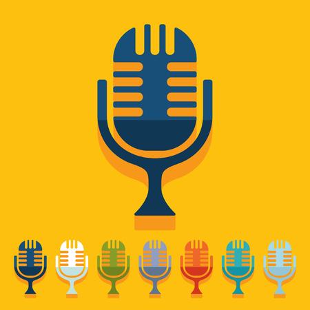 amplification: Flat design: microphone