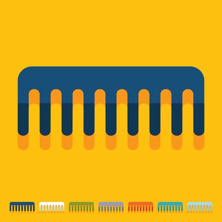 comb: Flat design: comb Illustration