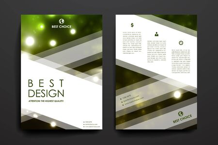 broshure: Set of brochure, poster templates in neon molecule structure style. Beautiful design and layout