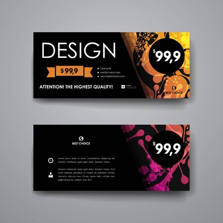 alternating organic: Set of modern design banner template in DNA molecule style. Beautiful design and layout