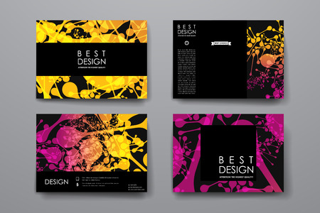 bases: Set of modern design banner template in DNA molecule style. Beautiful design and layout