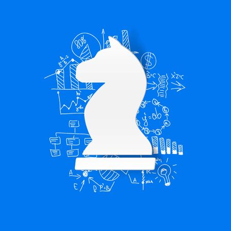horse sleigh: Drawing business formulas: chess