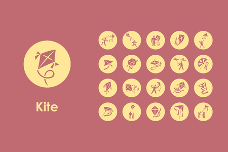 It is a set of kite simple web icons Illustration