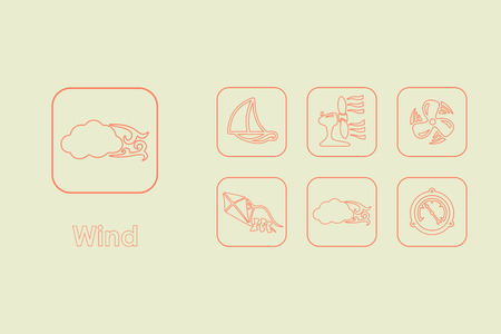 winds: It is a set of wind simple web icons