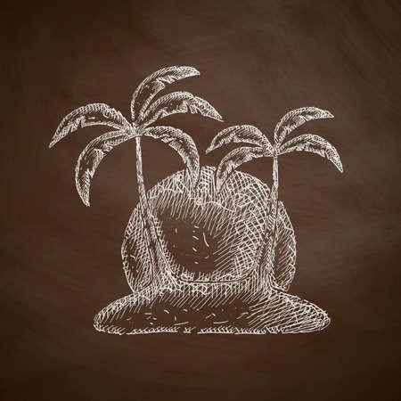 insular: palm icon Illustration