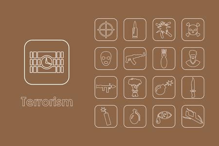 terrorism: It is a set of terrorism simple web icons Illustration